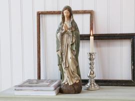 Vecka 38 Madonna med radband H50 cm antikgrön , hemmetshjarta.se