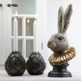 Vecka 30 Kaninhuvud med krage , hemmetshjarta.se