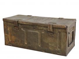 Vecka 40 Grimaud gl. Fransk Ammunitionslåda H25 / L58 / W25 cm antikgrå , hemmetshjarta.se