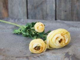 Fleur Ranunkel H71 cm gul , hemmetshjarta.se