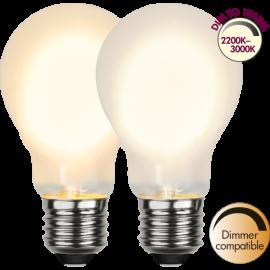 LED-Lampa E27 Ø60 Dim To Warm lm280/27w Frostad , hemmetshjarta.se