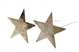 Stjärna/Stick Champagne 9cm 2-pack , hemmetshjarta.se