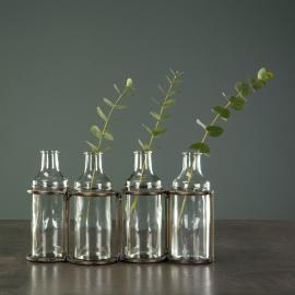 Vecka 30 Flaskor M. Ställning Antik Mässing 36x8x12,5cm , hemmetshjarta.se