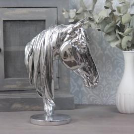 Hästhuvud 31x22,5x12,5 cm - silver , hemmetshjarta.se