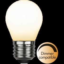 LED-Lampa E27 Ø45 Dim lm470/40w Frostad Ra90 , hemmetshjarta.se