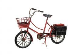 Cykel Röd Metall 29x10x18cm , hemmetshjarta.se