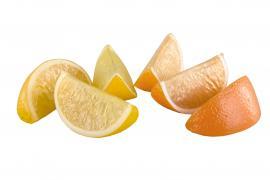 Konstgjord Apelsin/Citronklyftor 6-pack , hemmetshjarta.se