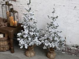 Fleur Cedar med snö H80 cm grön , hemmetshjarta.se