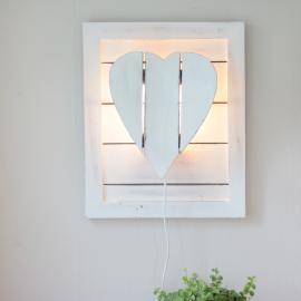 Lampa till vägg Hjärta - antikvit , hemmetshjarta.se
