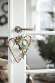 Hjärta med träpärlor 19 cm 1 st , hemmetshjarta.se