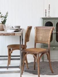 Vecka 13 Fransk matstol med korgstol och rygg H88 / L45 / W40 cm natur , hemmetshjarta.se