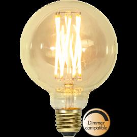 LED-lampa E27 Vintage Gold G95 Dim , hemmetshjarta.se