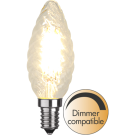 LED-Lampa E14 Twist Ø35 Dim lm420/37w Clear , hemmetshjarta.se