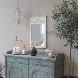 Spegel med dekor H71,5 / L48 / B4 cm antik creme , hemmetshjarta.se