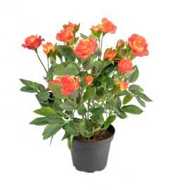 Konstgjord Ros 30 cm Orange , hemmetshjarta.se