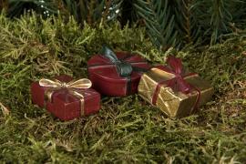 Paket/Stick Röd/Guld Mix Poly 4cm 3-pack , hemmetshjarta.se