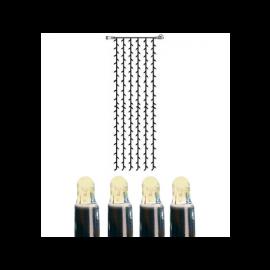 Utomhusdekoration System LED EL Ljusgardin Extra Varmvit 204 ljus 100x400cm , hemmetshjarta.se