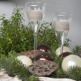 Ljushållare Glas Champagne 19x5cm 2-pack , hemmetshjarta.se