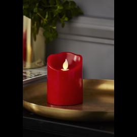 Batteridriven Blockljus LED M-Twinkle Röd 7,5x10cm , hemmetshjarta.se