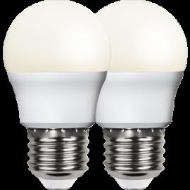 LED-Lampa E27 Ø45 lm470/40w Frostad Basic 2-pack , hemmetshjarta.se