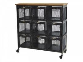 Vecka 50 Byrå med 9 fil de fer lådor H97 / L91.5 / B34 cm antik svart , hemmetshjarta.se
