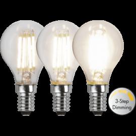 LED-Lampa E14 Ø45 Dim 3-step lm470/40w Clear , hemmetshjarta.se