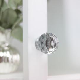 Knopp Diamant rund topp 7,5x4 cm , hemmetshjarta.se
