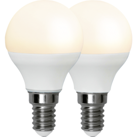 LED-Lampa E14 Ø45 lm470/40w Frostad Basic 2-pack , hemmetshjarta.se