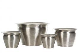 Kruka 4-pack - borstad silver * , hemmetshjarta.se