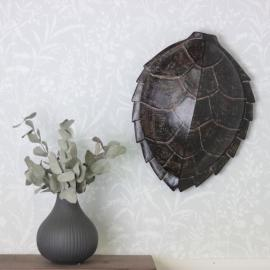 Sköldpaddskal Stor Brun Poly 26x10x34cm , hemmetshjarta.se