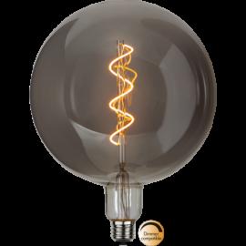 LED-lampa E27 Industrial Vintage Smoke G200 Dim , hemmetshjarta.se