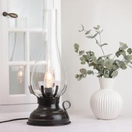 Lampa El 42 cm - Antikbrun , hemmetshjarta.se