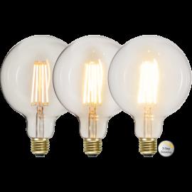 LED-lampa E27 Soft Glow G95 Dim 3-step , hemmetshjarta.se