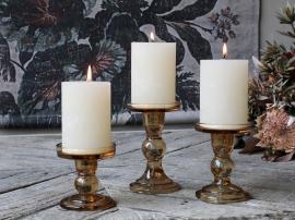 Ljusstake för blockljus H11,5 / Ø8,5 cm karamell 1 st , hemmetshjarta.se