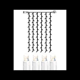 Utomhusdekoration System LED EL Ljusgardin Extra Kallvit 102 ljus 100x200cm , hemmetshjarta.se