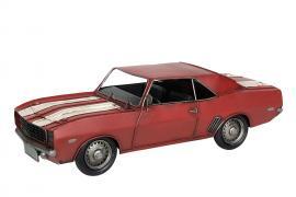 Bil Camaro Röd Metall 34x14x11cm , hemmetshjarta.se