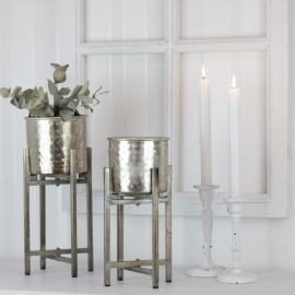 Kruka med ställning 2-pack - champagne ** , hemmetshjarta.se