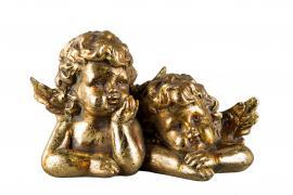 Ängel/Barn Guld Poly 18x10x7cm , hemmetshjarta.se