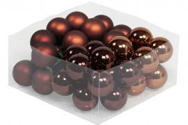Glaskula.Bas Choklad Mix 4cm 36st , hemmetshjarta.se