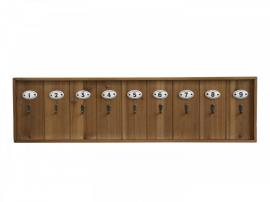 Vecka 35 Nyckeltavla med 9 krokar H21/L80/B3 cm natur , hemmetshjarta.se