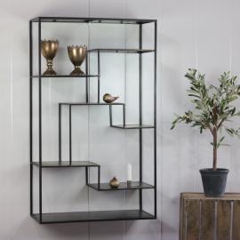 Hylla metall vägg/golv 100 cm , hemmetshjarta.se