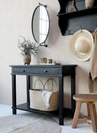 Avlastningsbord 100 cm - svart , hemmetshjarta.se