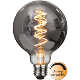 LED-lampa E27 Decoled Spiral Smoke G95 Dim , hemmetshjarta.se