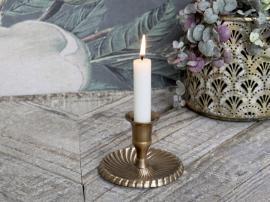 Ljusstake till kyrkljus H7/Ø10,5 cm antique mässing , hemmetshjarta.se