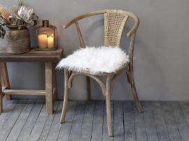 Konstgjord lammfäll L40/B40 cm vit , hemmetshjarta.se