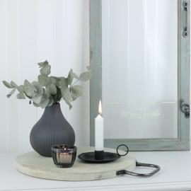 Bricka med handtag i metall 36 cm , hemmetshjarta.se
