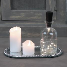 Ljusfat spegel med pärlkant 20x10 cm , hemmetshjarta.se