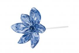 Blomma/Stick Mörkblå Poly 6,5cm 2-pack , hemmetshjarta.se