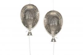 Ballong Glas Old Silver 11x20cm 2-pack , hemmetshjarta.se
