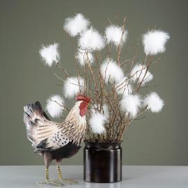 Fjädrar PuderVippa till ris 12- pack - vit , hemmetshjarta.se